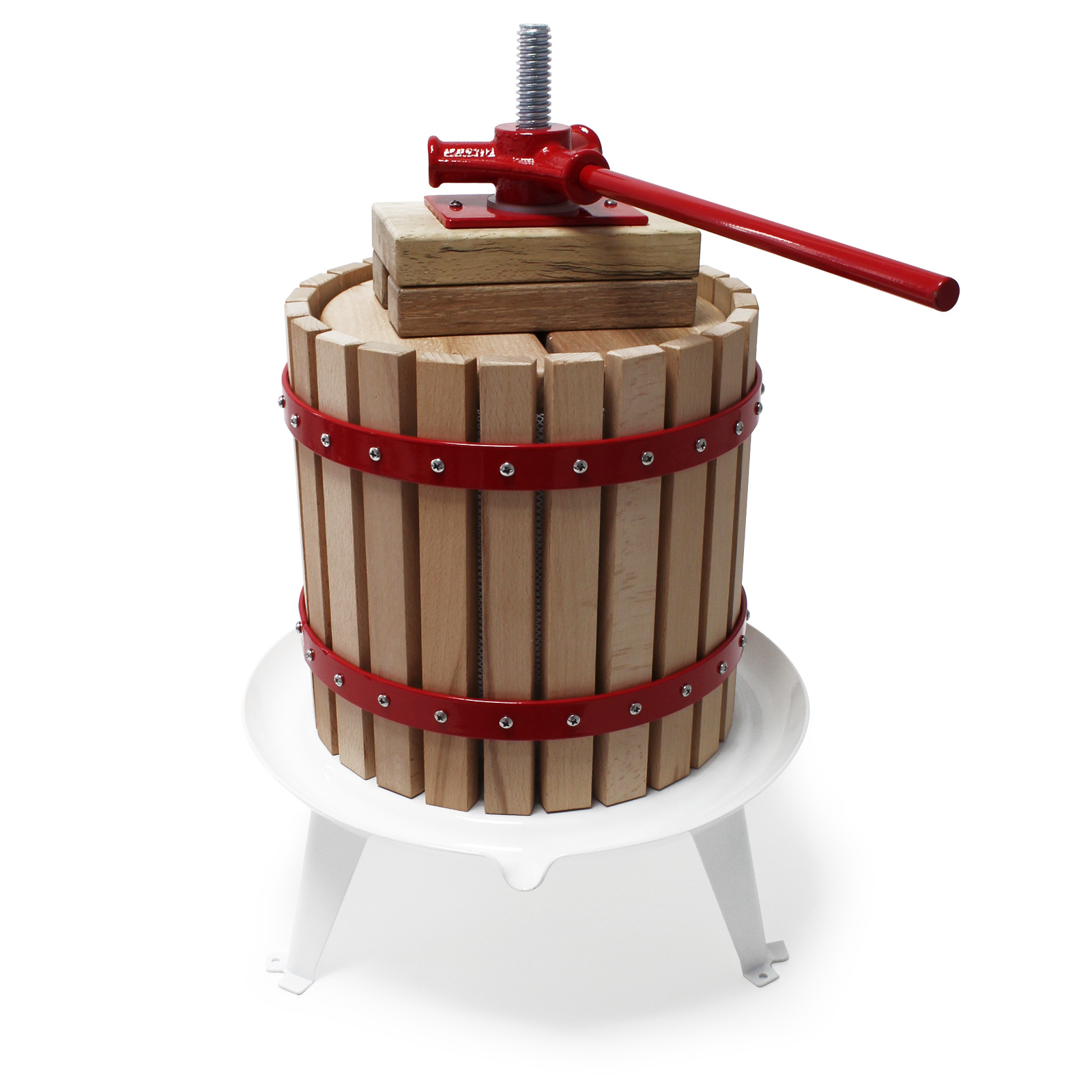 12l presse fruits incl torchon pour pressoir vin fruit ch ne cidre de pommes ebay. Black Bedroom Furniture Sets. Home Design Ideas