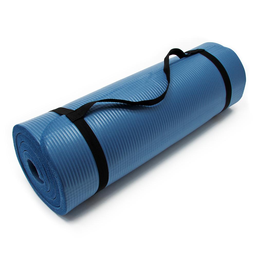 Yoga Mat 190x100x1.5cm excercise tour fitness pilates pad non-slip extra thick