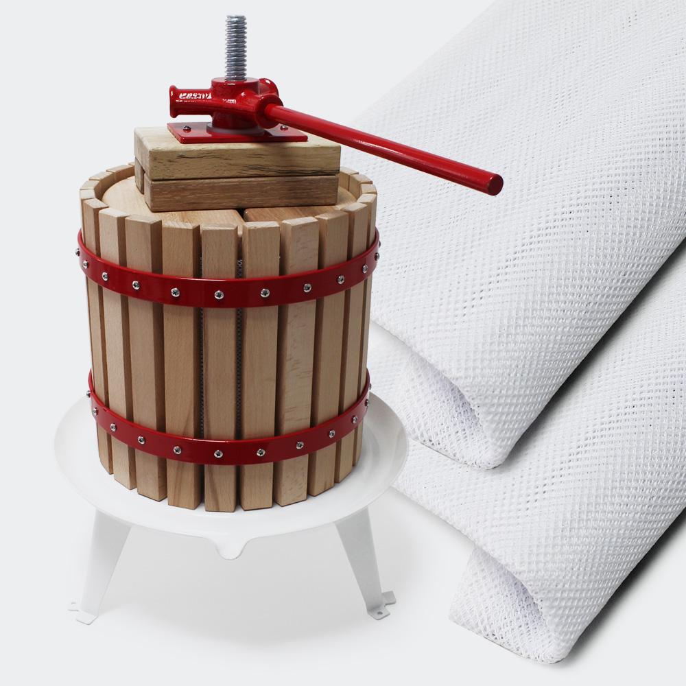 18l Obstpresse mit 3x Presstuch Maischepresse Weinpresse Apfelpresse