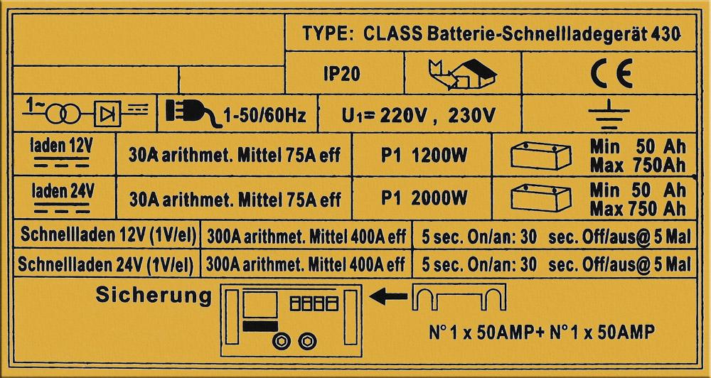 WilTec Batterieladegerät Ladegerät Akkuladegerät 12V 24V Boost 430