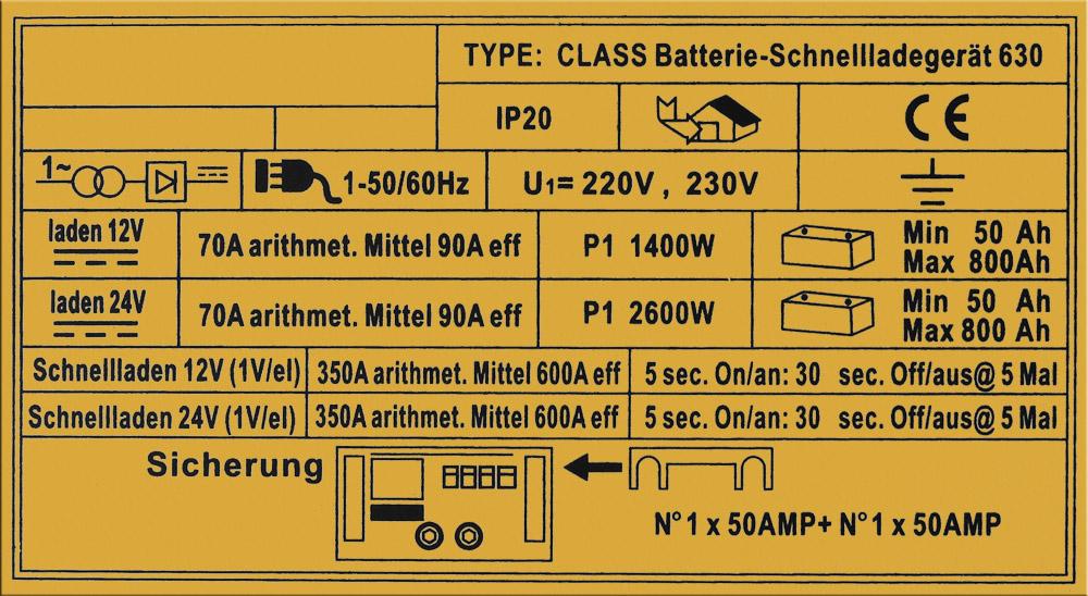 WilTec Batterieladegerät Ladegerät Akkuladegerät 12V 24V Boost 630