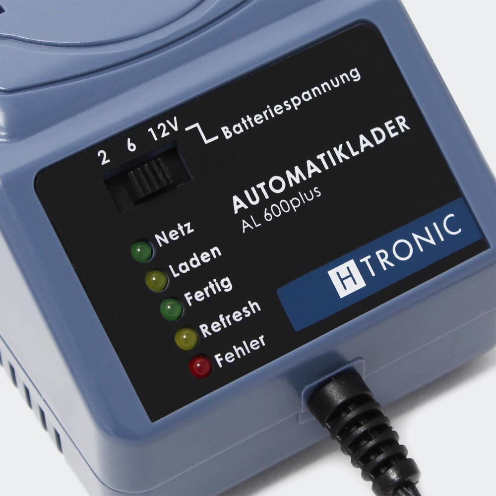 H-Tronic AL 600plus 2/6/12V Batterien Automatiklader Batterieladegerät