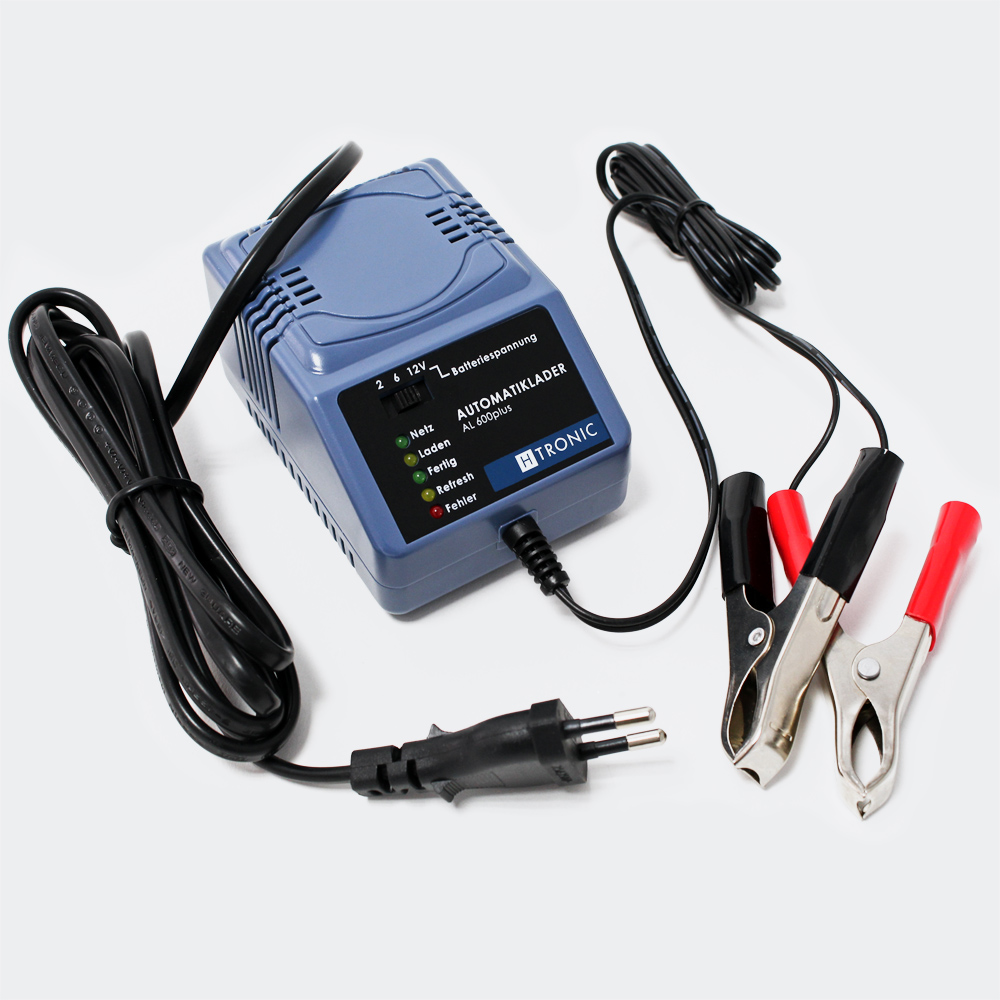 H-Tronic AL600plus Mainteneur de charge automatique 2V 6V 12V
