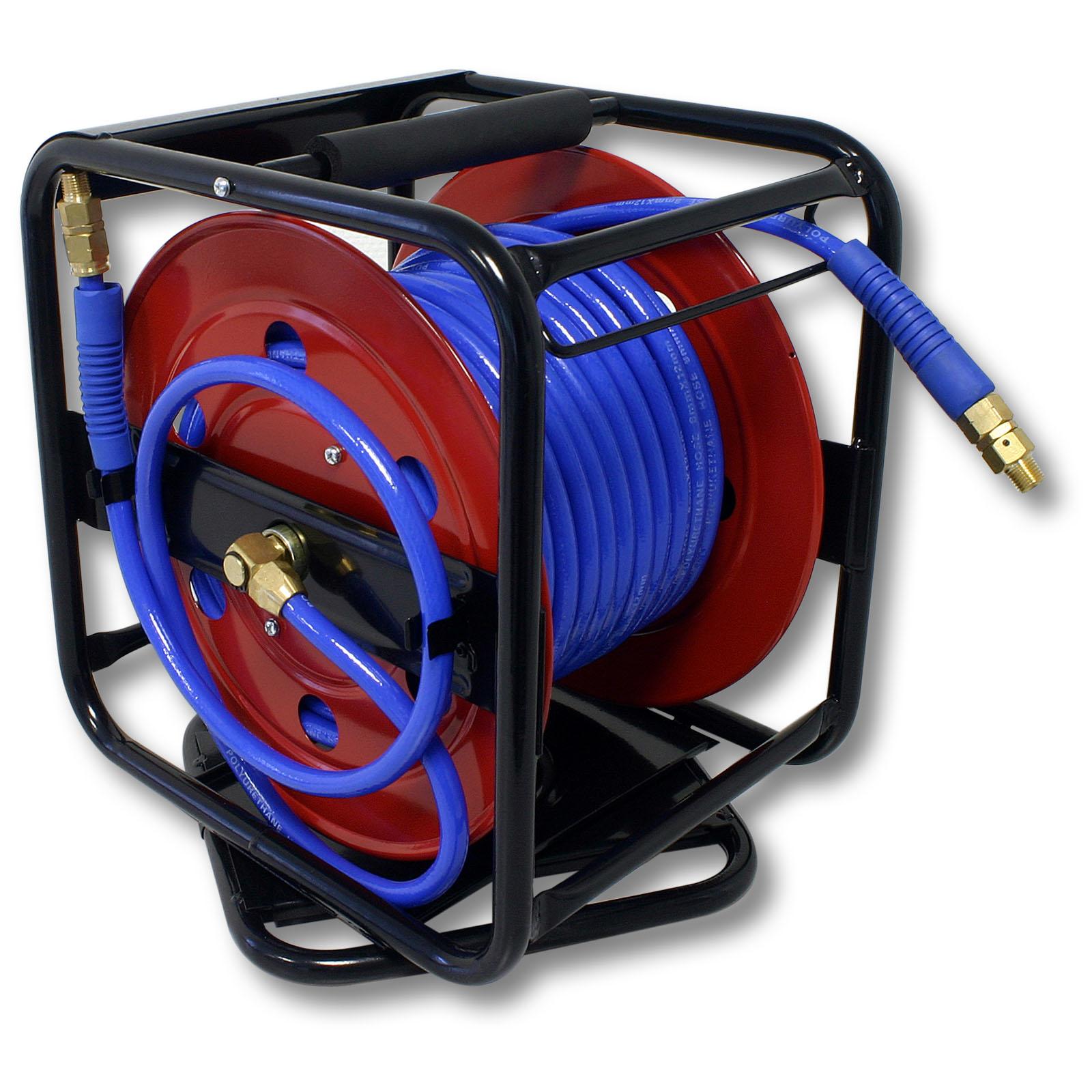 Portable compressed air hose reel meter bar quot ebay