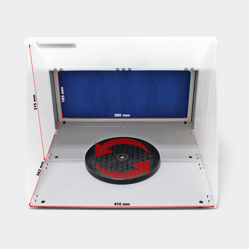 Airbrush-Absauganlage 3m³/min Farbe Filter Farbnebel leistungsstark E420
