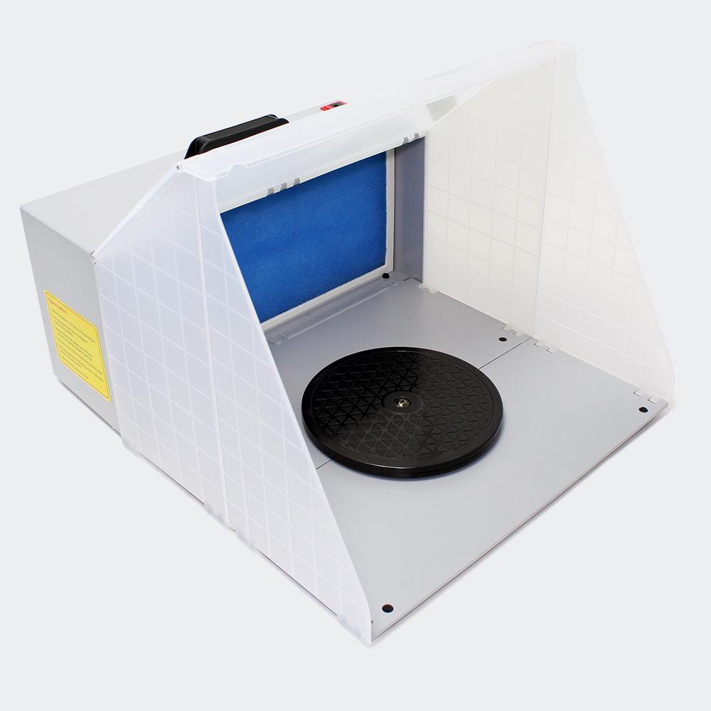 Airbrush Doppel Absauganlage 3m³/min Farbe Filter Farbnebel leistungsstark E420
