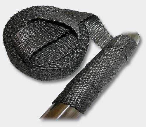 wiltec ruban isolant thermique en tissu graphite pour collecteurs pots d 39 chappement 50mm 30m. Black Bedroom Furniture Sets. Home Design Ideas