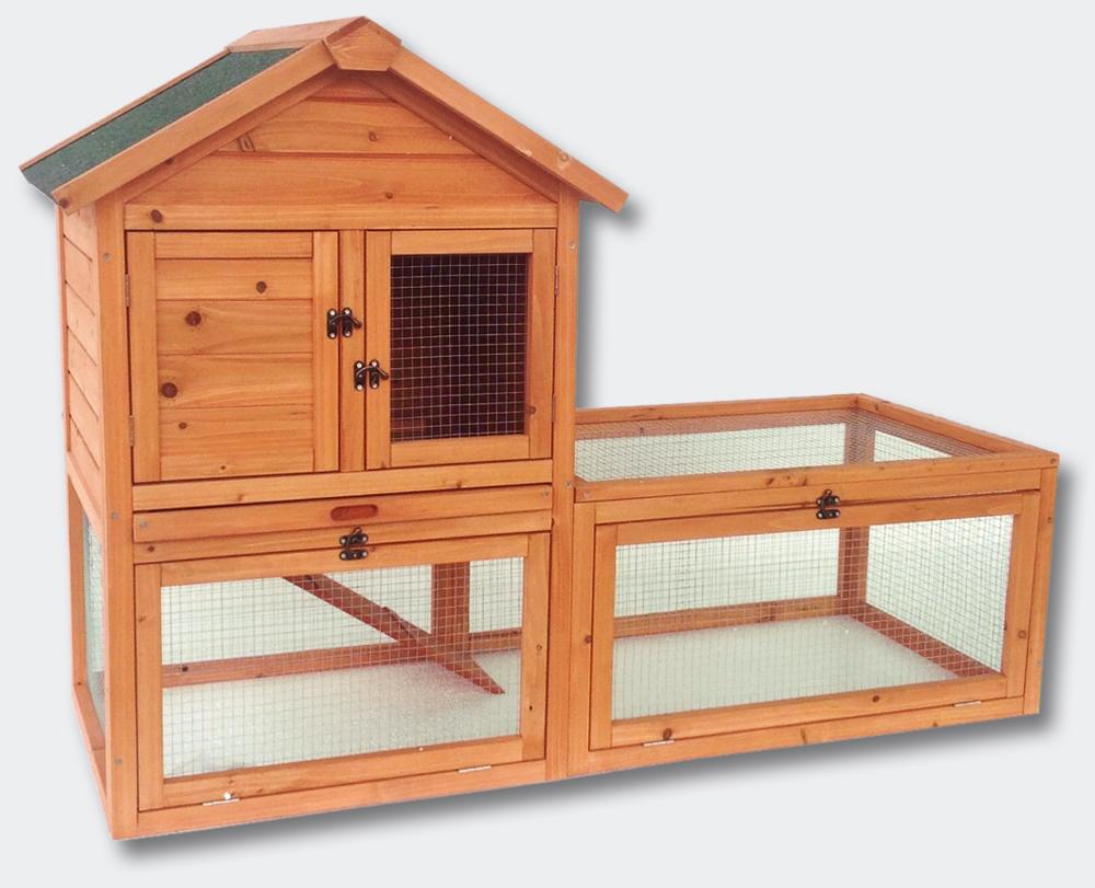 wiltec clapier pour petits animaux maison pour rongeurs abri pour lapins grand espace libre. Black Bedroom Furniture Sets. Home Design Ideas