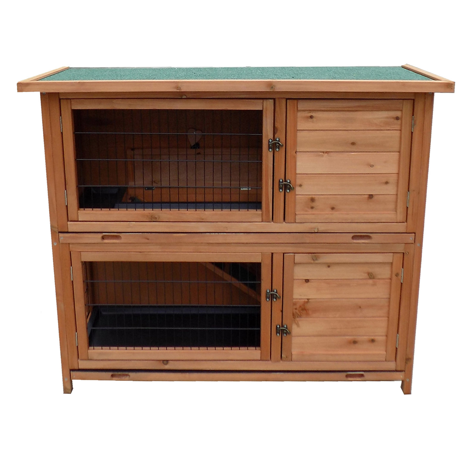 2 story luxury rabbit hutch wood pet house guineea gig for 2 rabbit hutch