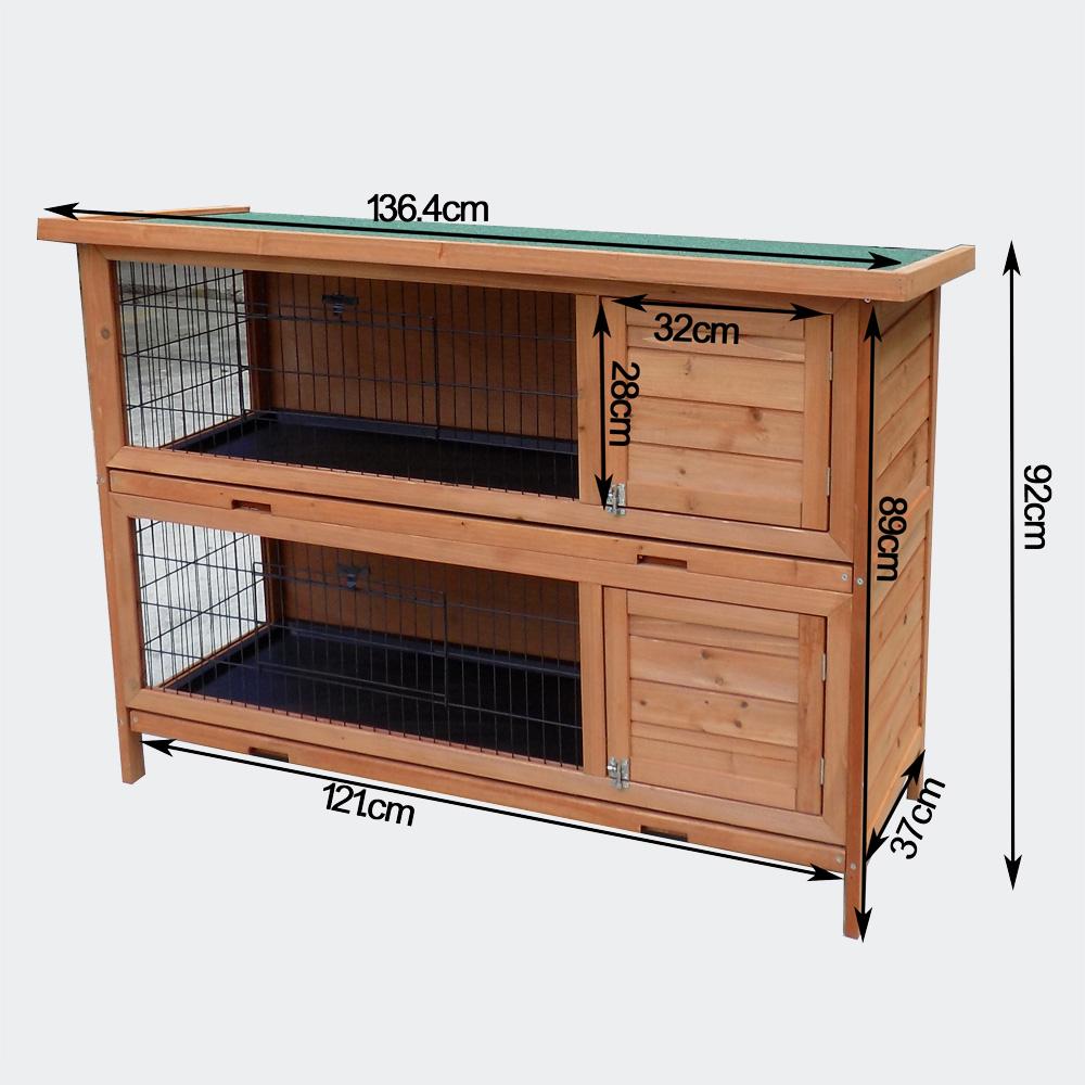 Wiltec hasenstall nagerhaus kaninchenstall 2 story for 2 rabbit hutch