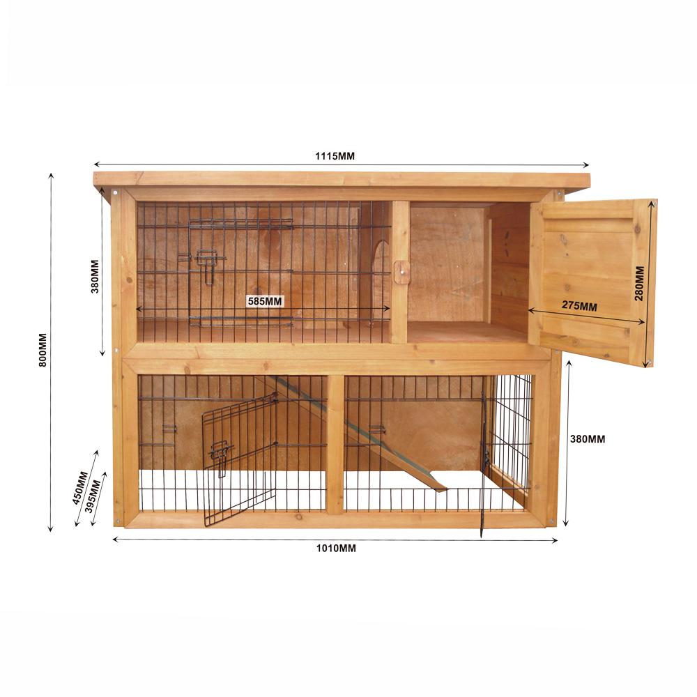 Grande capanna a due piani per piccoli roditori gabbia for Piani casa tetto a capanna