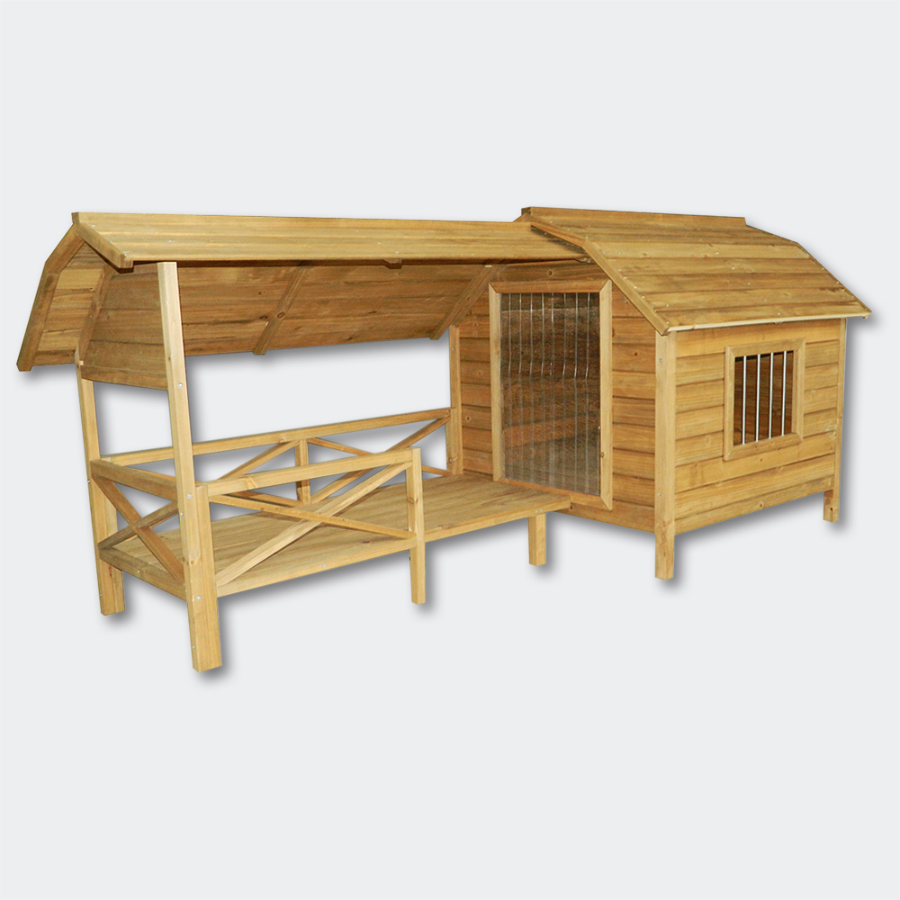 wiltec hundeh tte hundehaus h tte xxl hundeh tte hundehaus massiv holz mit balkon terasse. Black Bedroom Furniture Sets. Home Design Ideas