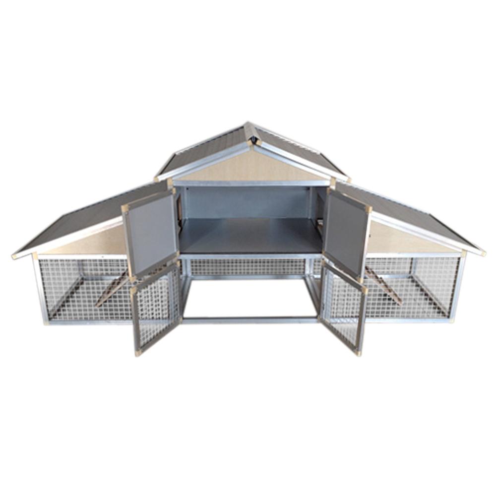 Pollaio in alluminio stalla per piccoli animali nido for Piccoli piani domestici tradizionali