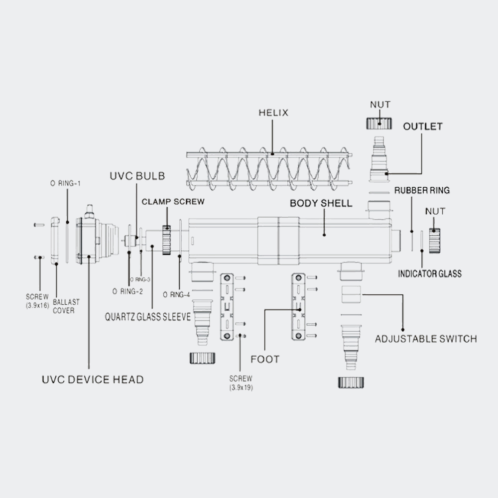 UVc-Lampe Teichfilter