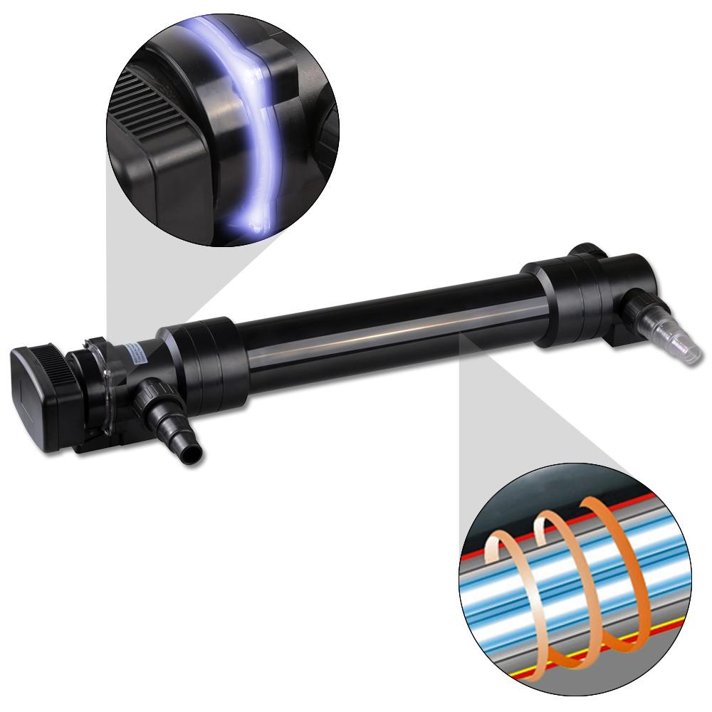 TTSunSun UV-C 55W Edelstahl Teichklärer Wasserklärer Lichtfilter Vorklärgerät UV