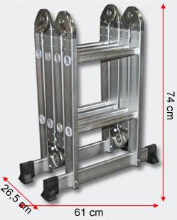 alu mehrzweckleiter 4x2 leiter 2 5m anlegeleiter aluleiter vielzweckleiter ebay. Black Bedroom Furniture Sets. Home Design Ideas