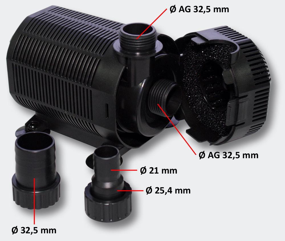 SunSun CQB-8003 Eco Teich- Springbrunnenpumpe 6500l/h 140W