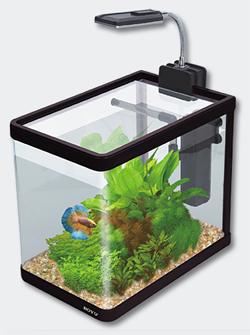 boyu nano aquarium set cube 10l shrimp tank led lamp. Black Bedroom Furniture Sets. Home Design Ideas