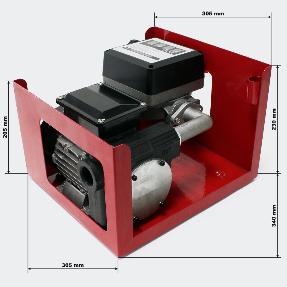 Selbstansaugende Diesel-Heizölpumpe 750W 80l/min