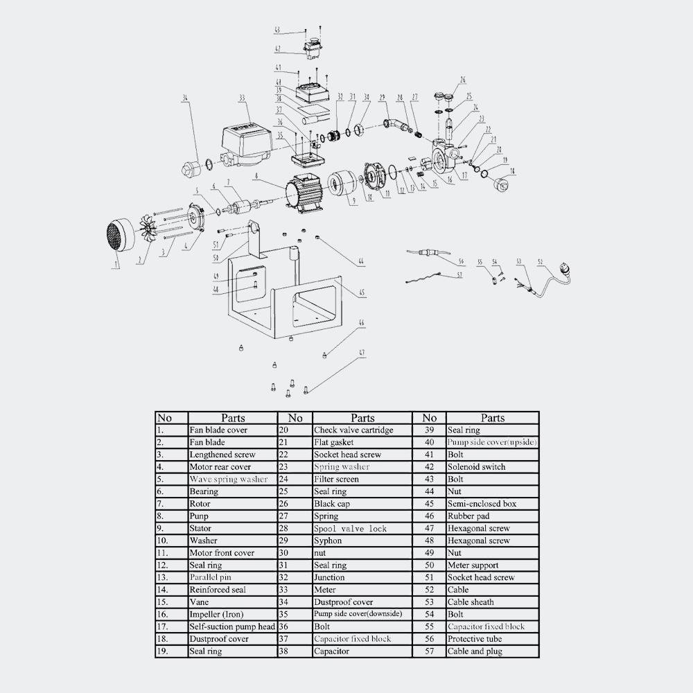 Selbstansaugende Diesel-Heizölpumpe 550W 50l/min