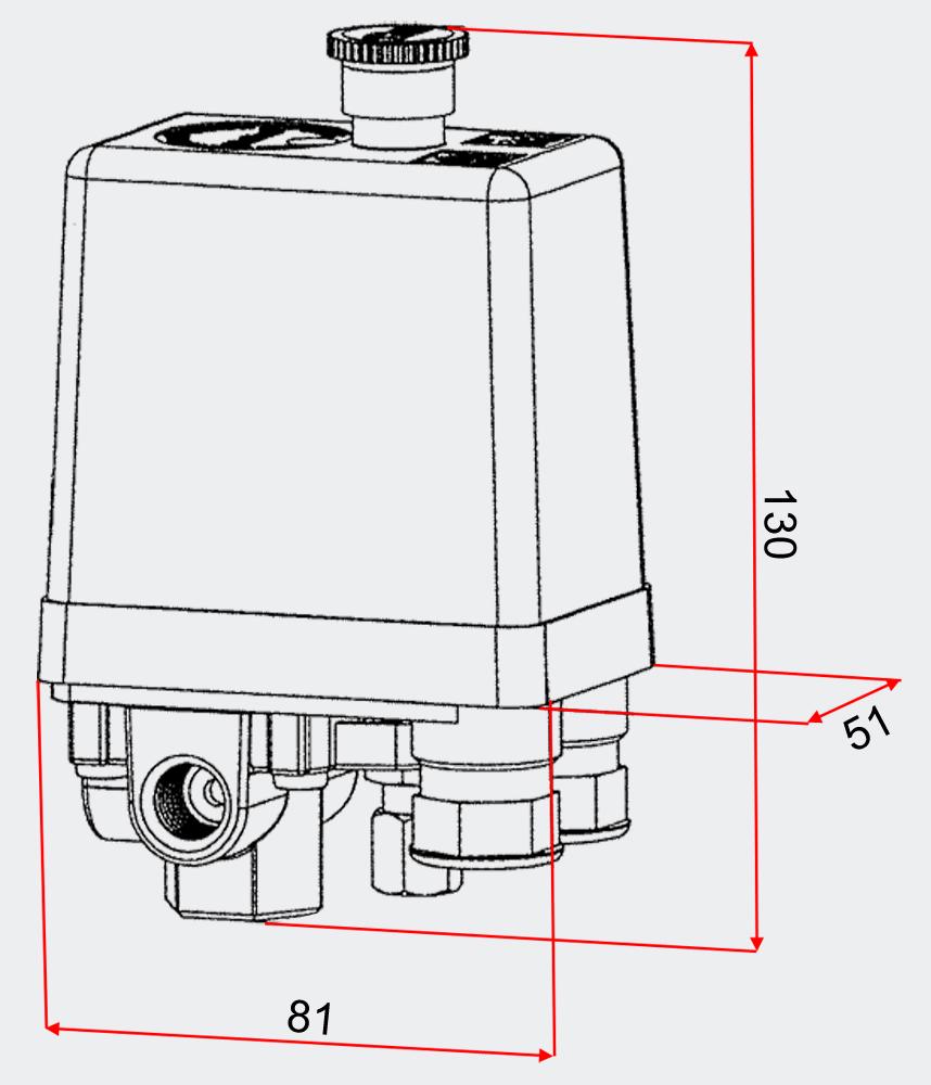 wiltec pressostat contr leur de pression pour compresseur d 39 air sk 8 50620. Black Bedroom Furniture Sets. Home Design Ideas