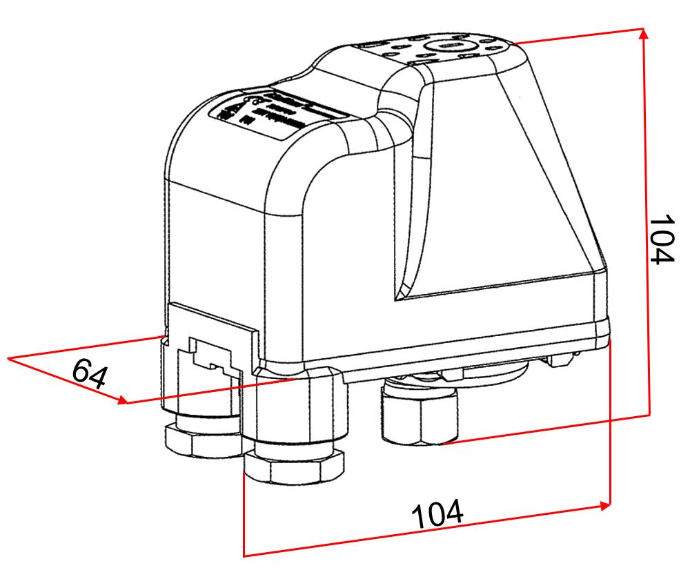 druckschalter f r hauswasserwerk druckw chter brunnenpumpe sk9 230v ebay. Black Bedroom Furniture Sets. Home Design Ideas