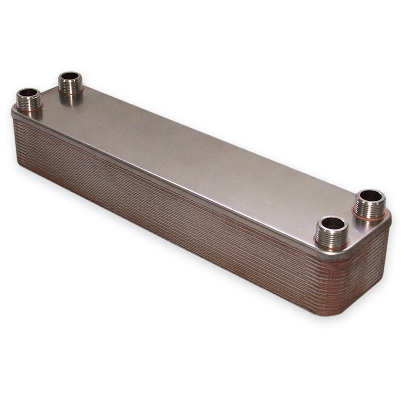 Hrale changeur de chaleur thermique inox 30 plaques max 330 kw eau solaire - Castorama plaque inox ...