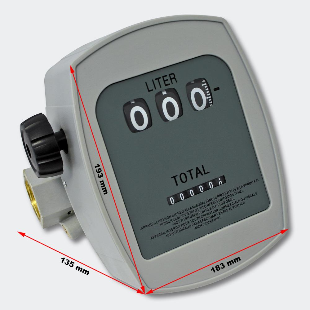"Diesel Heizöl Zähler 3 bar 10-60l/min Anschlüsse 1"" Abweichung 1% Heizölpumpe"