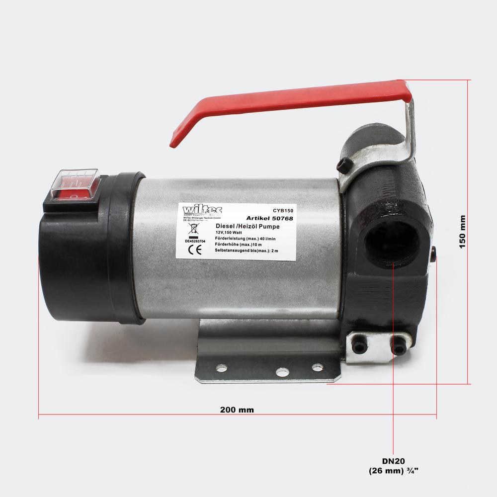 Selbstansaugende Diesel-Heizölpumpe 12V