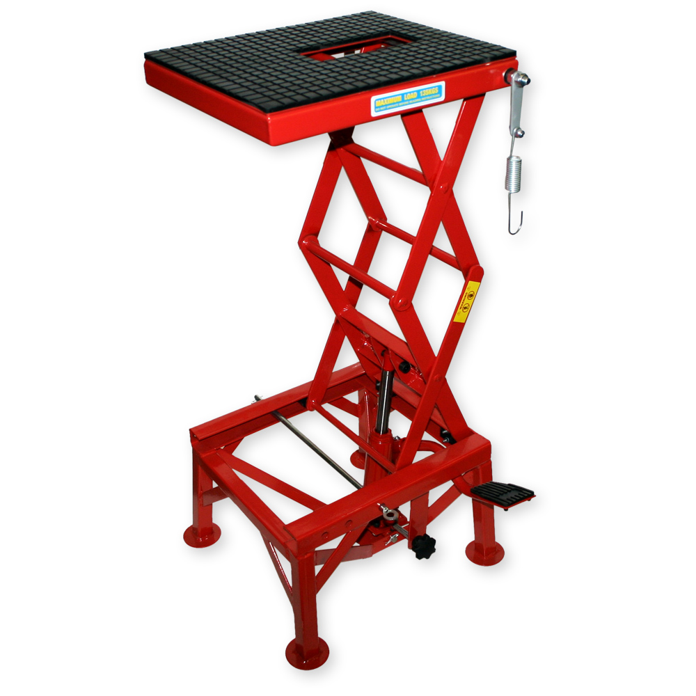 300lb 135kg hydraulic motorcycle workbench lift bike atv for Montage stand