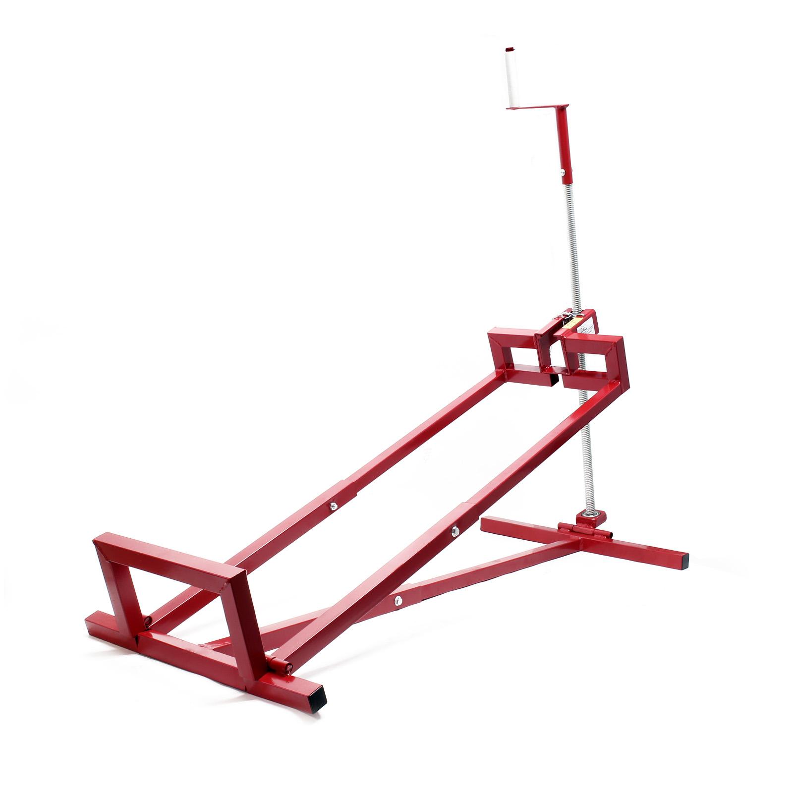 lawn mower lifter 400kg lifting device ramp ride on mower garden tractor jack ebay. Black Bedroom Furniture Sets. Home Design Ideas