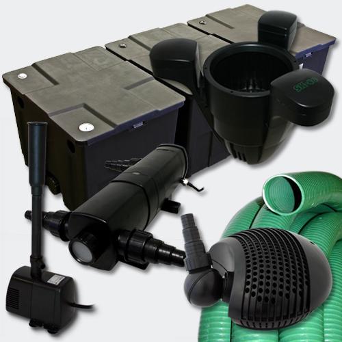 Filter set1 bio pond filter 90000l 24w uv sterilizer pump for Decorative pond filters