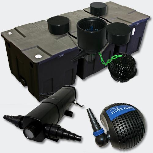 Kit Filtration Bassin 90000l Stérilisateur UVC 36W 80W Pompe Ecumeur 454