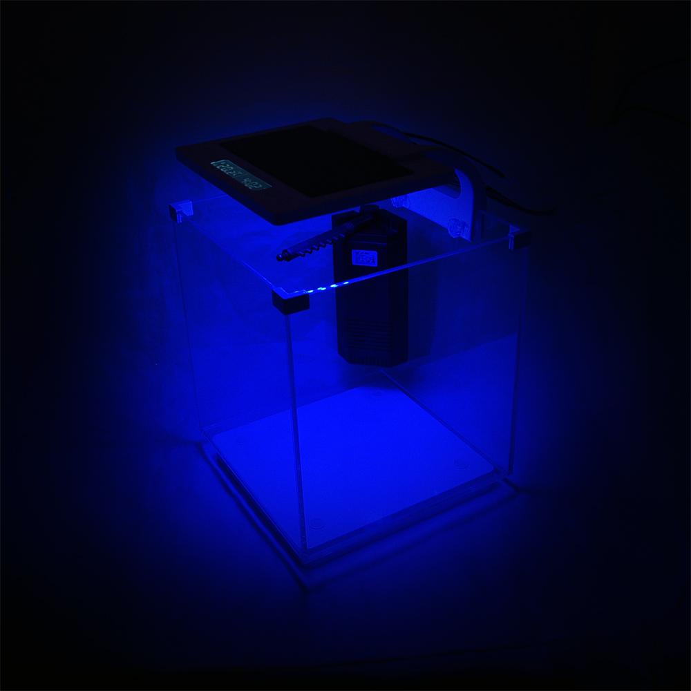 sunsun hkl 250 nano aquarium 15 l led beleuchtung innenfilter cube ebay. Black Bedroom Furniture Sets. Home Design Ideas