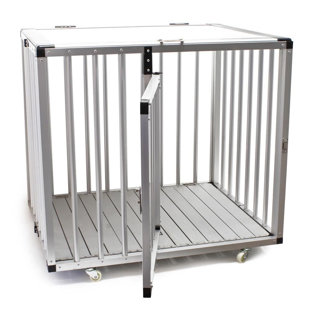 hunde transportbox faltbar gro kennel alu mdf k fig 1 t r. Black Bedroom Furniture Sets. Home Design Ideas