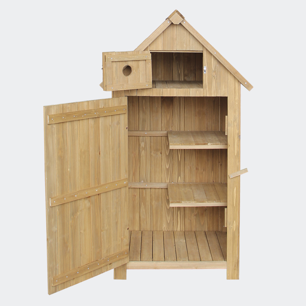 Schmales Gartenhaus aus Fichtenholz, Teerdach, 770x540x1420mm