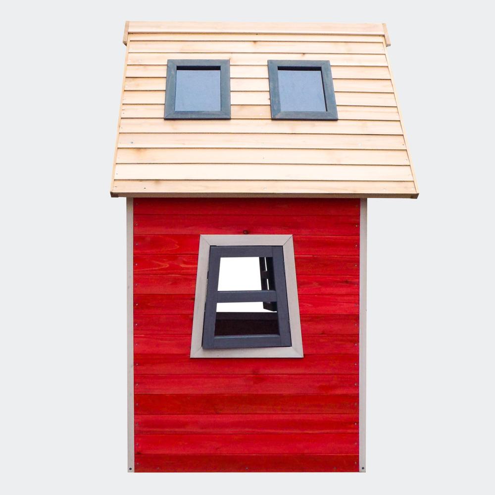 Umweltfreundliches Spielhaus für Kinder, Fichtenholz, 1200x1020x1540mm
