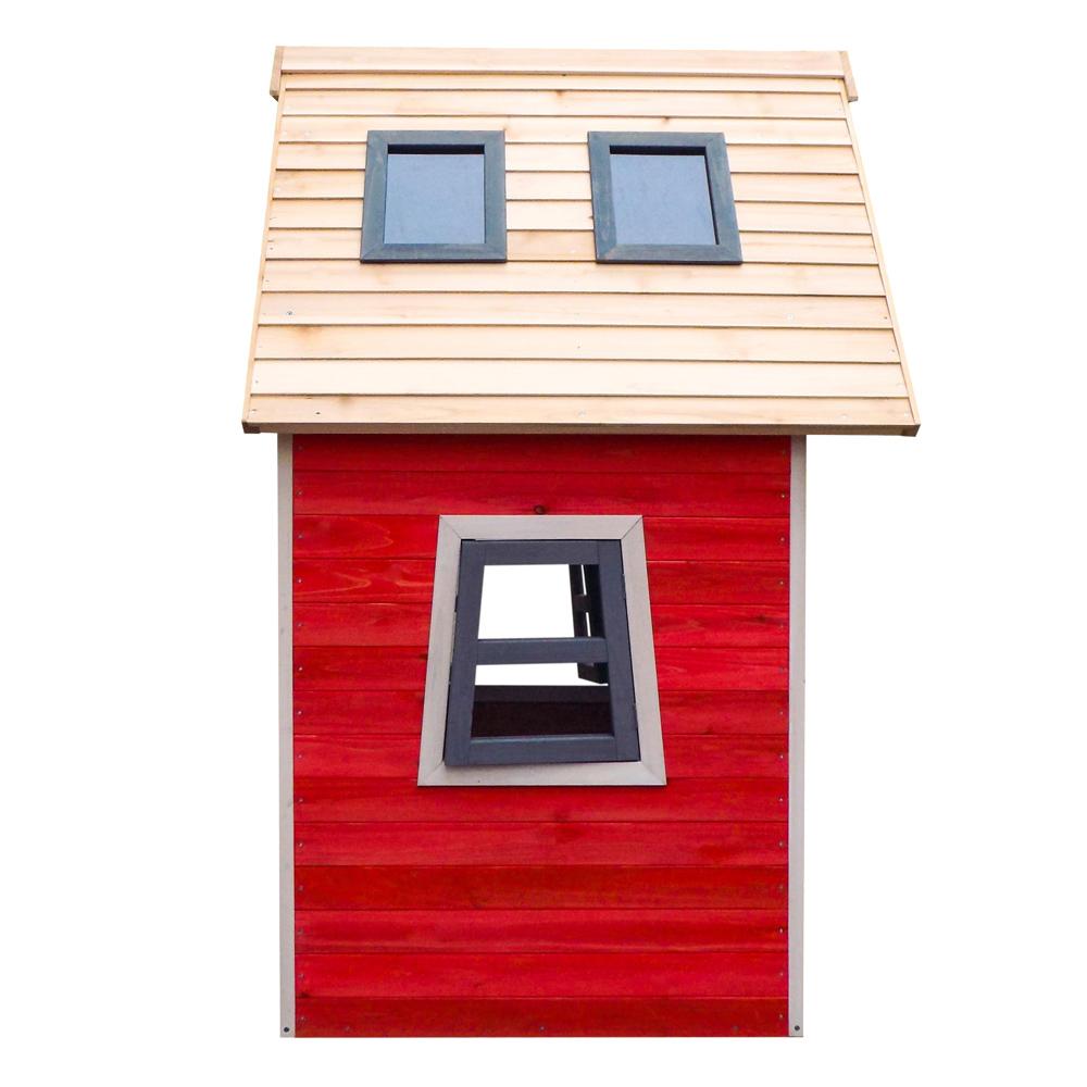 Maison cologique jeux enfants bois d pic a maison bois for Maison jardin bois