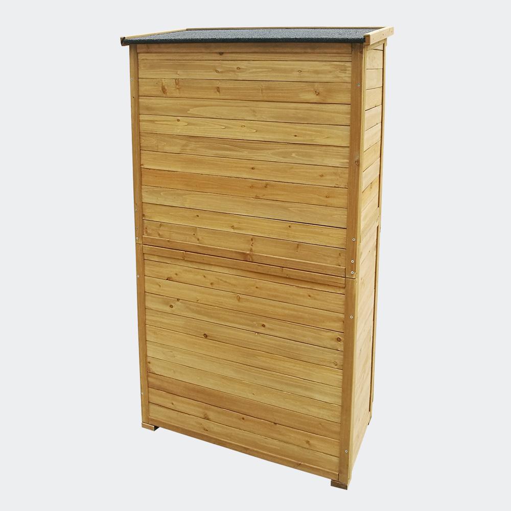 Gartenhaus mit Lamellentür, 870x465x1600mm, Fichtenholz, mit Teerdach