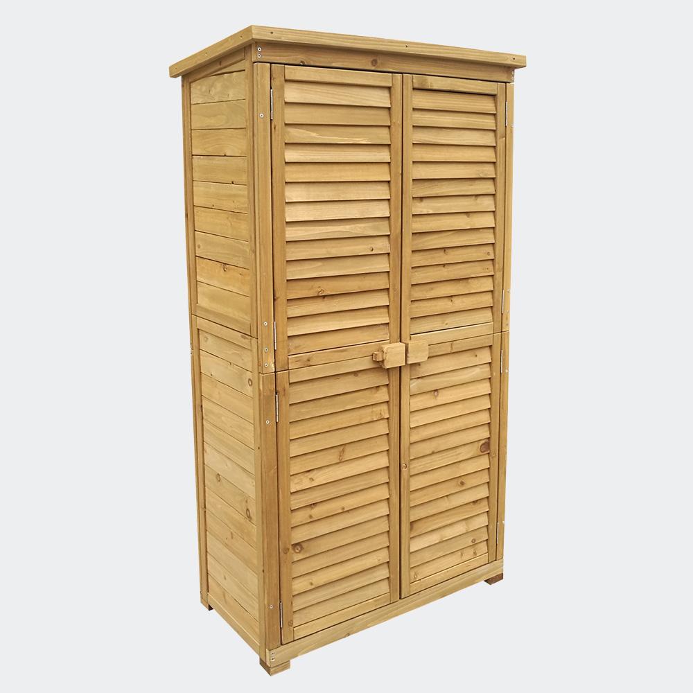 wiltec gartenhaus mit lamellent r 870x465x1600mm. Black Bedroom Furniture Sets. Home Design Ideas