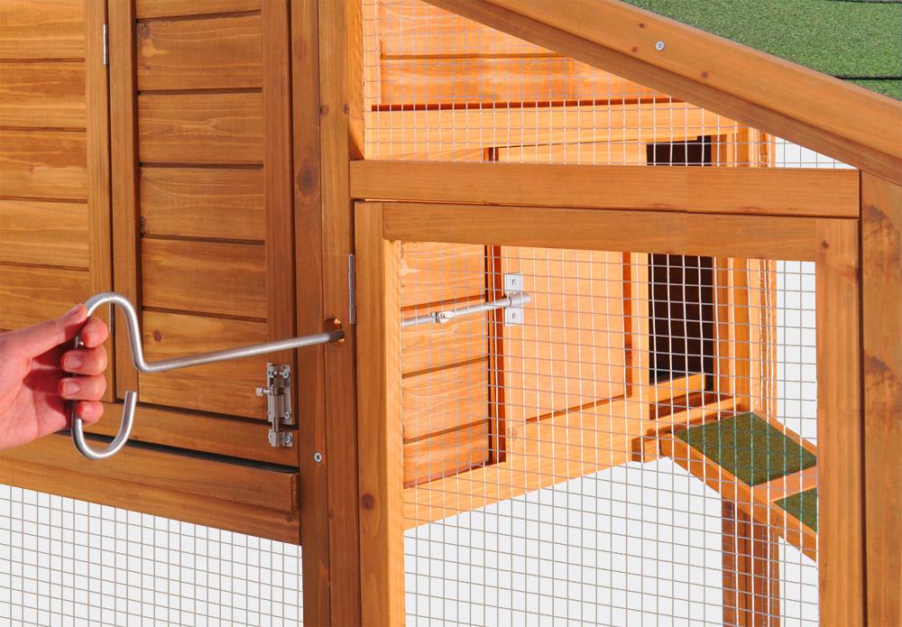 Hühnerstall mit Freilauf und Nistkasten, Fichtenholz, 1710x660x1200mm