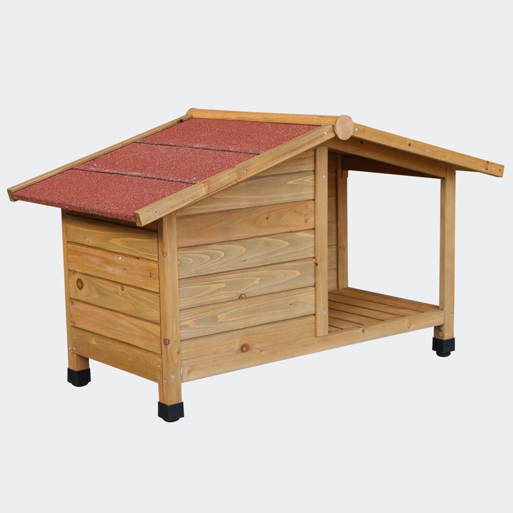 wiltec hundeh tte veranda aus fichtenholz mit teerdach. Black Bedroom Furniture Sets. Home Design Ideas