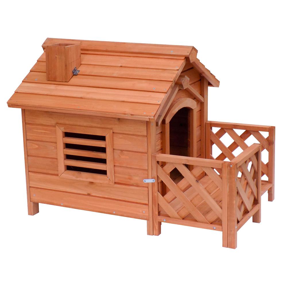 hundeh tte hundehaus veranda schornstein fichtenholz. Black Bedroom Furniture Sets. Home Design Ideas
