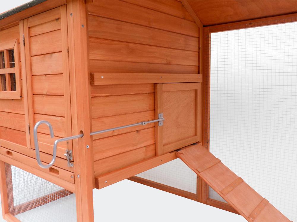 Hühnerstall mit Freilauf und erhöhtem Unterschlupf, 1710x800x1100mm
