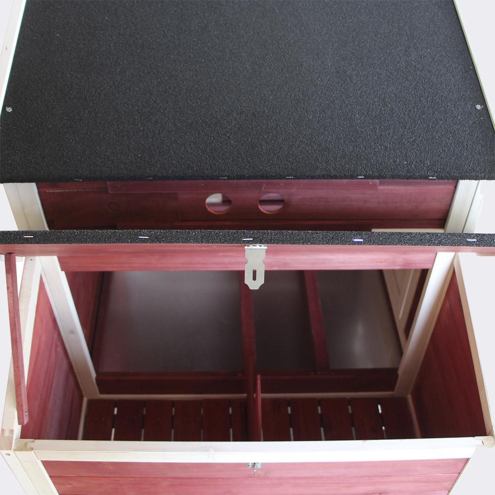 XXL Hühnerstall Freilauf, erhöhter Unterschlupf, 2000x810x1160mm