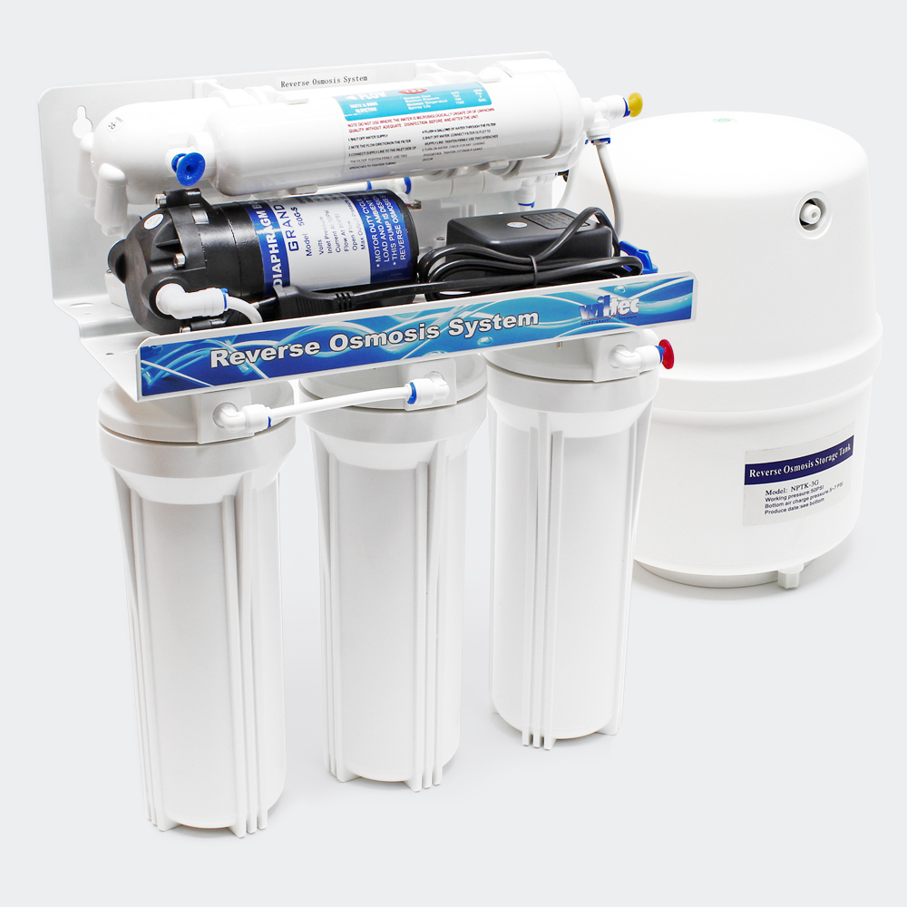 Naturewater 5-Stufen Umkehrosmose (RO) 180l/Tag Druckerhöhungspumpe