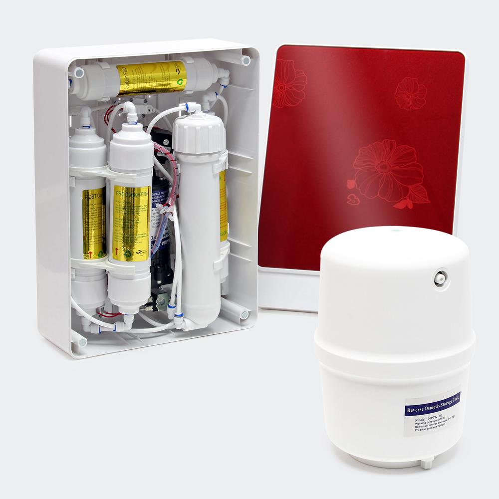 Naturewater 6-Stufen Umkehrosmose (RO) 180l/Tag Druckerhöhungspumpe