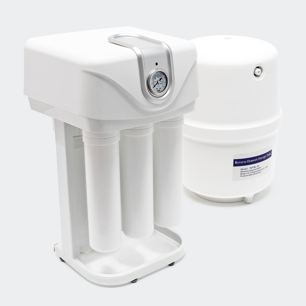 Naturewater 5-Stufen Umkehrosmose 180l/Tag mit Pumpe, Druckanzeige