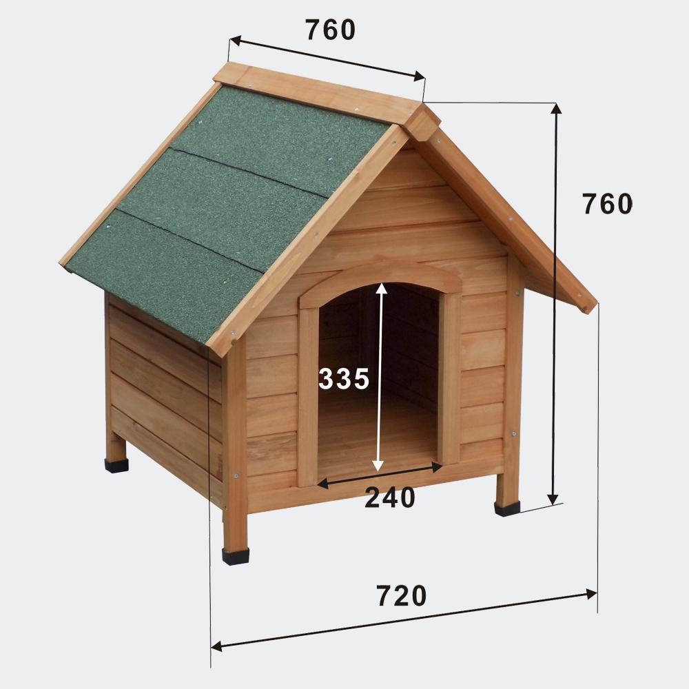 Hundehütte Hundehaus Tierhaus Fichtenholz Teerdach 720x760x760 mm