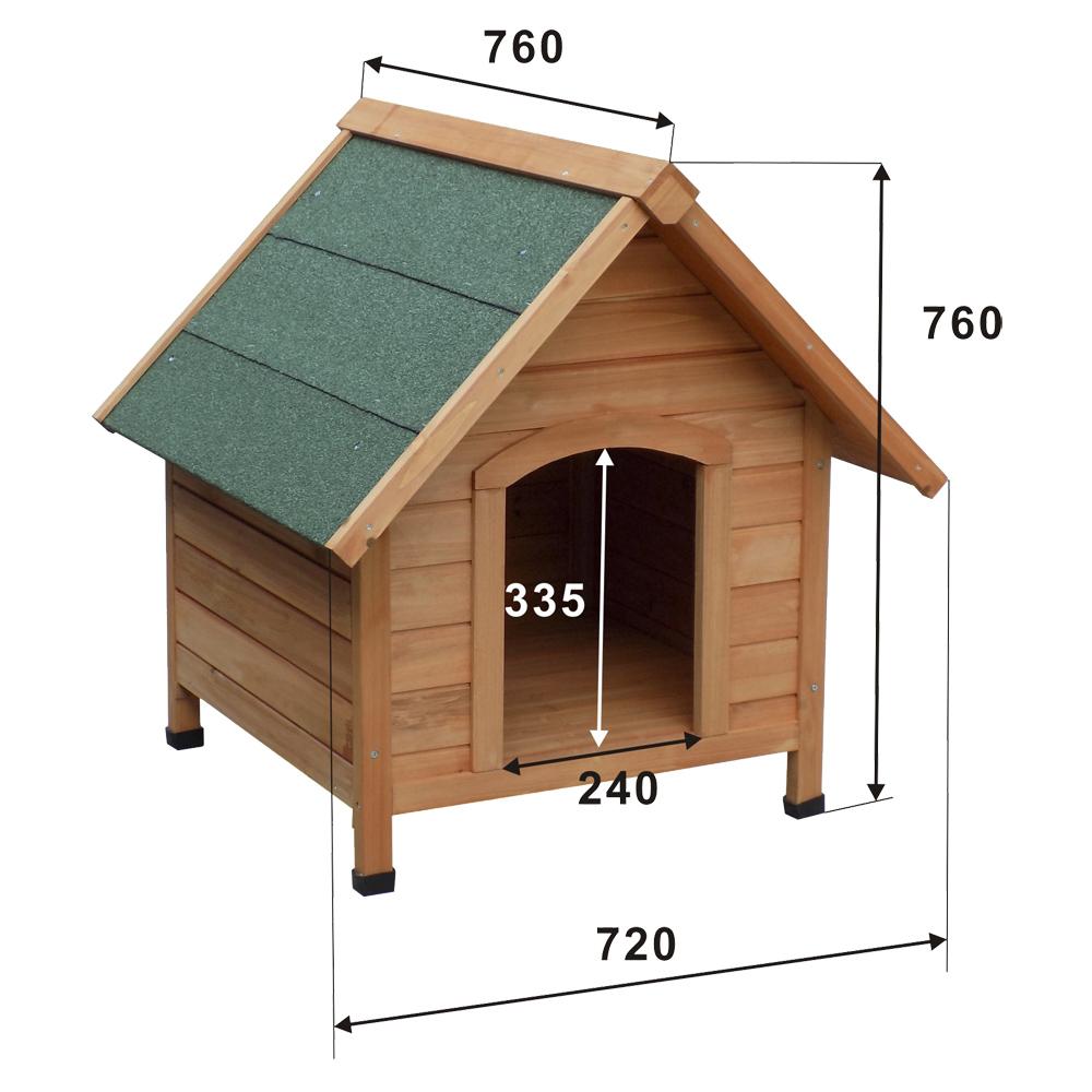 la niche de haute qualité en bois d épicéa huilé avec toit en  ~ Goudron De Bois